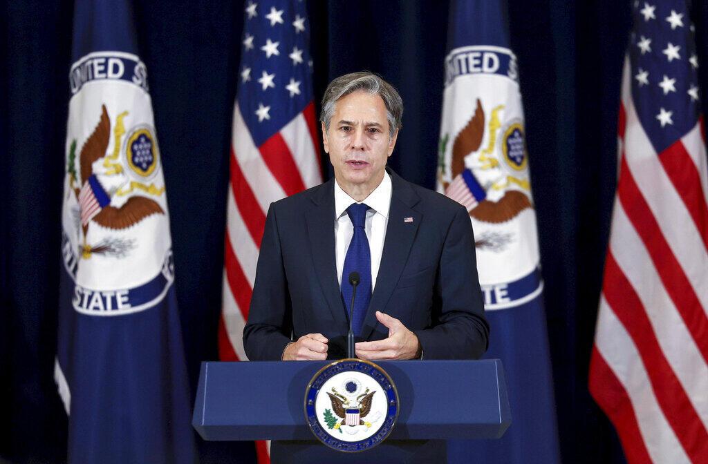 Ảnh minh họa : Ngoại trưởng Mỹ Antony Blinken phát biểu nhân lễ tưởng niệm 20 năm vụ khủng bố 11/09, tại trụ sở bộ Ngoại Giao Mỹ, ngày 10/09/2021, Washington, Hoa Kỳ.