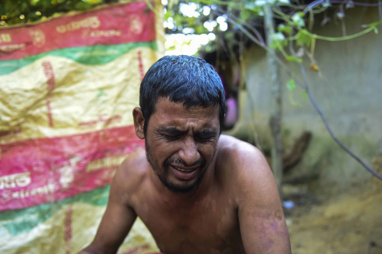 Một người tị nạn Rohingya tại trại tạm cư ở Ukhyia (Bangladesh) ngày 25/11/2016.
