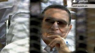 Hosni Moubarak, le 13 avril 2013 aux assises.