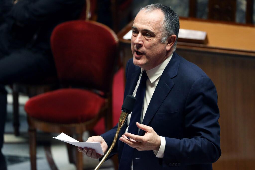 O ministro da Agricultura e Alimentação, Didier Guillaume, na Assembleia Nacional francesa.
