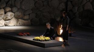 O chanceler brasileiro Antonio Patriota durante cerimônia no Museu do Holocausto, em Jerusalém
