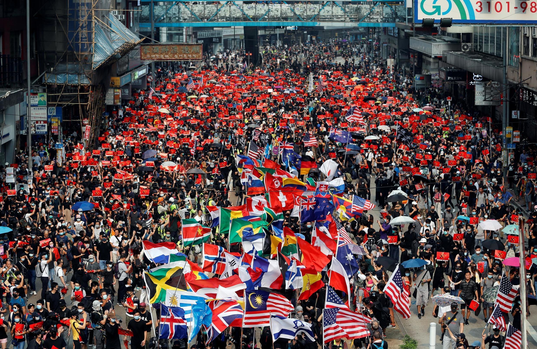 Biểu tình chống chính quyền ở Causeway Bay, Hồng Kông, Trung Quốc ngày 29/09/2019.