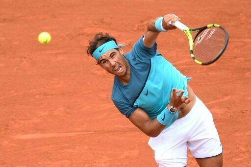 L'Espagnol Rafael Nadal face à l'Argentin Facundo Bagnis au 2e tour de Roland-Garros, le 26 mai 2016