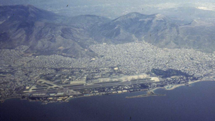 Vue aérienne de l'ancien aéroport de Hellinikon en Grèce.