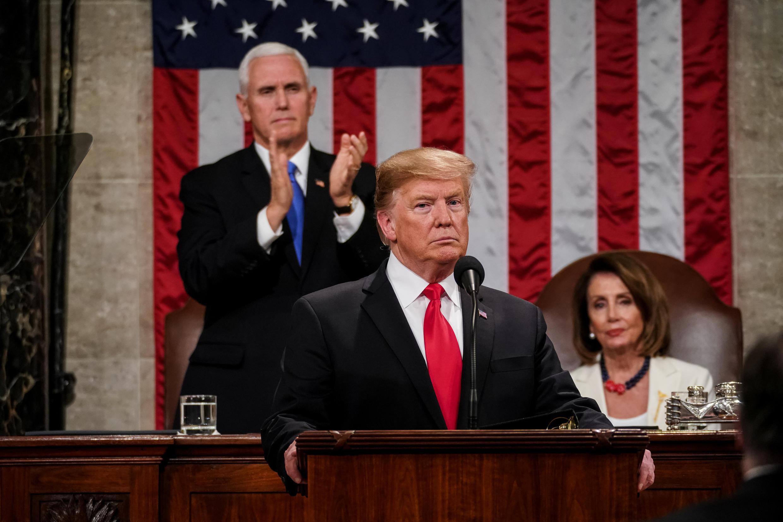 TT Mỹ Donald Trump đọc diễn văn về Tình Trạng Liên Bang ngày 05/02/2019 tại trụ sở Quốc Hội Mỹ ở Washington D.C (Hoa Kỳ).