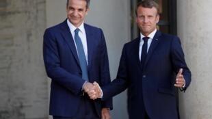 Le Premier ministre grec Kyriakos Mitsotakis et le président de la République française Emmanuel Macron s'étaient déjà vus en août 2019.