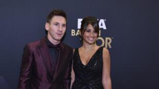 Lionel Messi y Antonella Roccuzzo en una foto de archivo.