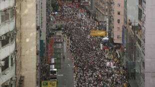 香港7月1日爆發大規模反政府示威
