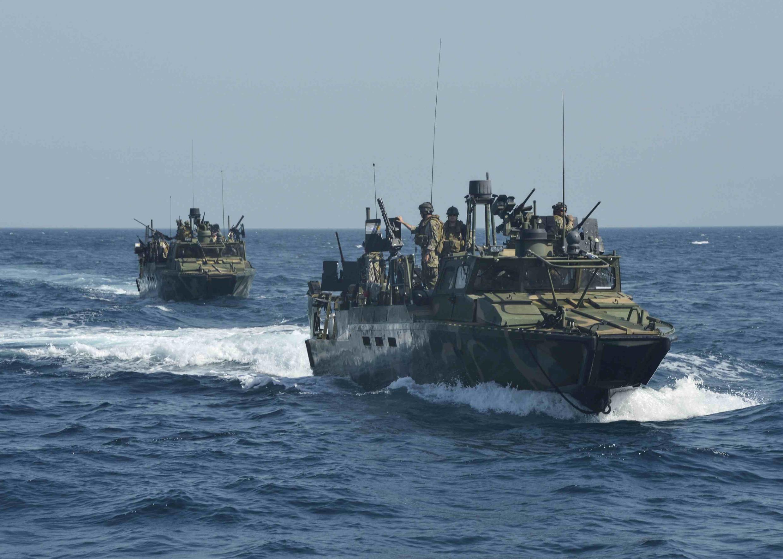 Photo d'illustration. Des patrouilleurs de l'US Navy en juin 2013.