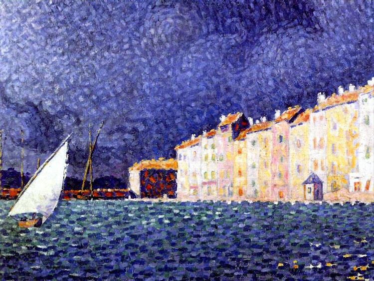 """西涅克的画作""""暴雨""""。"""