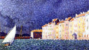 """西涅克的畫作""""暴雨""""。"""