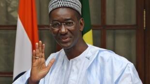 Moctar Ouane en 2009, alors ministre des Affaires étrangères malien.