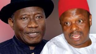 Shugaban Najeriya, Goodluck Jonathan da Gwamnan Jahar Kano Malam Rabiu Musa Kwankwaso