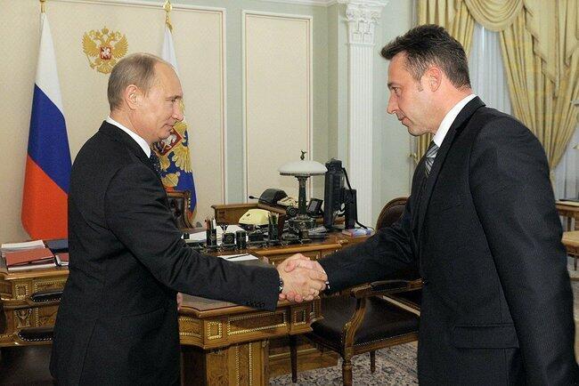 Игорь Холманских с Владимиром Путиным в Ново-Огарево