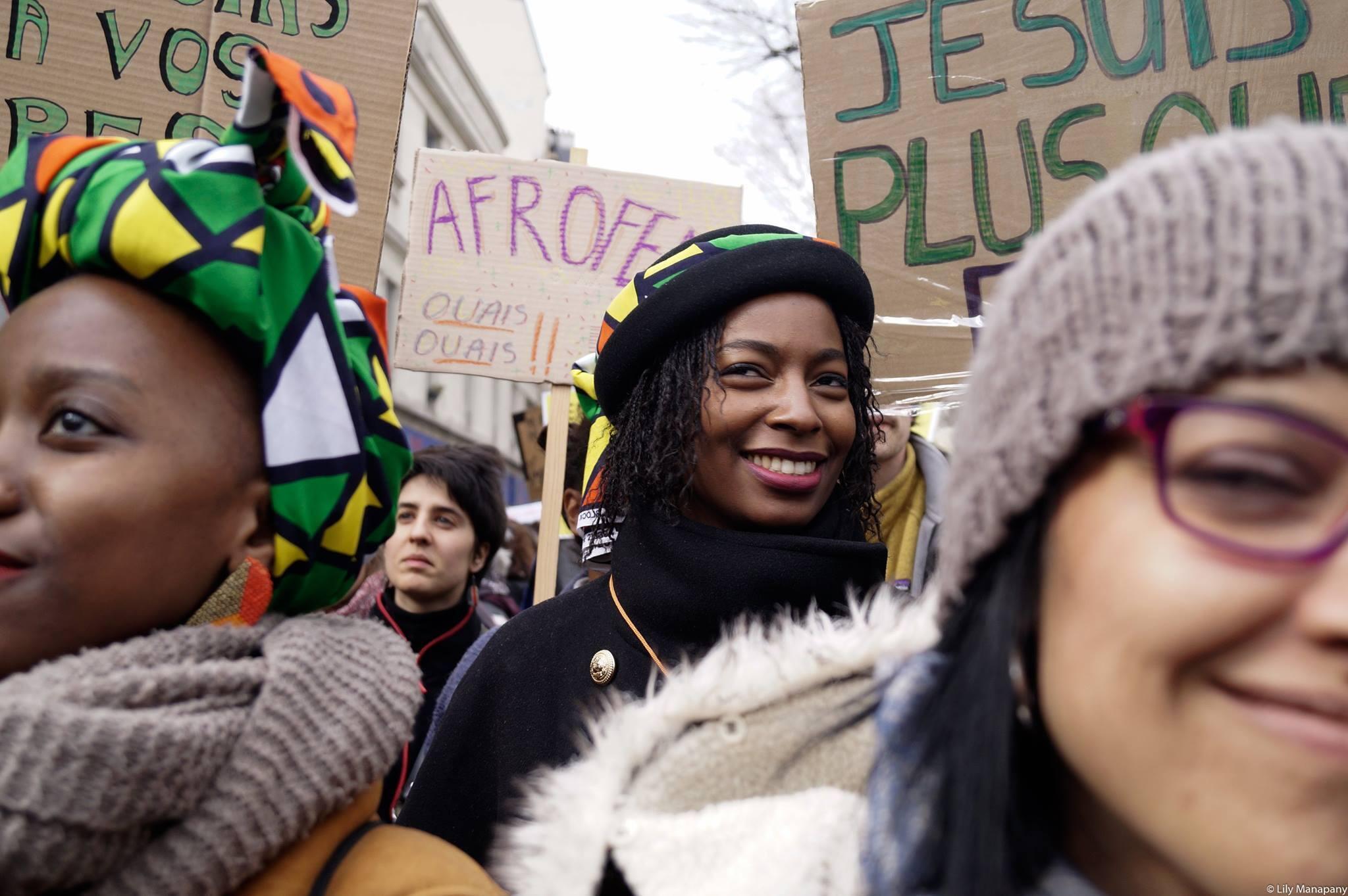 Coletivo Afro feminista MWASI en el parisino barrio de Belleville