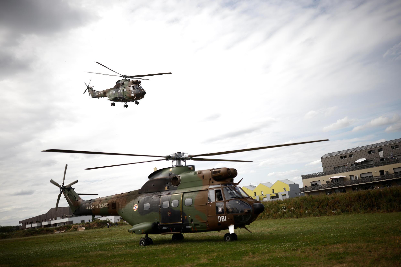 В операции в Ля Шапель-сюр-Эрдр участвовали военные вертолеты