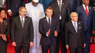 امانوئل ماکرون در هفدهمین اجلاس فرانسهزبانی در ایروان