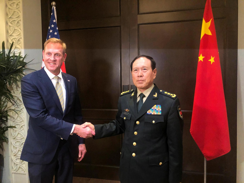 Lãnh đạo bộ Quốc Phòng Mỹ và TQ tại diễn đàn an ninh Shangri-La. Ảnh ngày 31/05/2019.