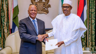South African envoy Jeff Radebe tenders apology letter for xenophobic attacks against Africans to President Muhammadu Buhari