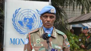 Le général Derrick Mgwebi, commandant de la force de la Monusco.