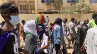 small spirited demo April 6 Sudan