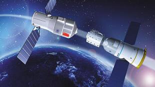 O laboratório espacial chinêsTiangong.