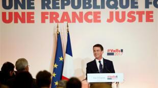 Манюэль Вальс на предвыборной пресс-конференции