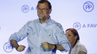Mariano Rajoy na sede do Partido Popular. Madrid, 26/06/16.
