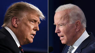El presidente estadounidense, Donald Trump, y su rival demócrata Joe Biden, durante el primer debate el 29 de septiembre de 2020, en Cleveland