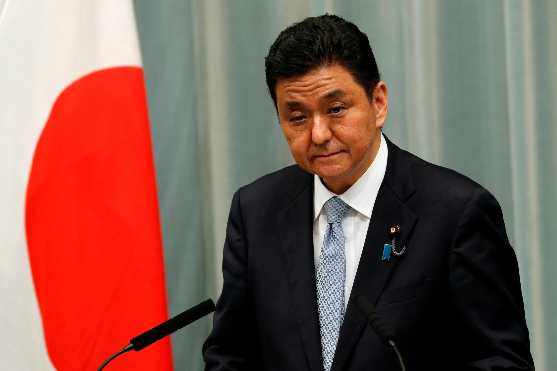 日本防衛大臣岸信夫資料圖片