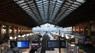 Gare du Nord, à Paris,pendant une grève contre la réforme des retraites, le 24 de Setembro de 2019.