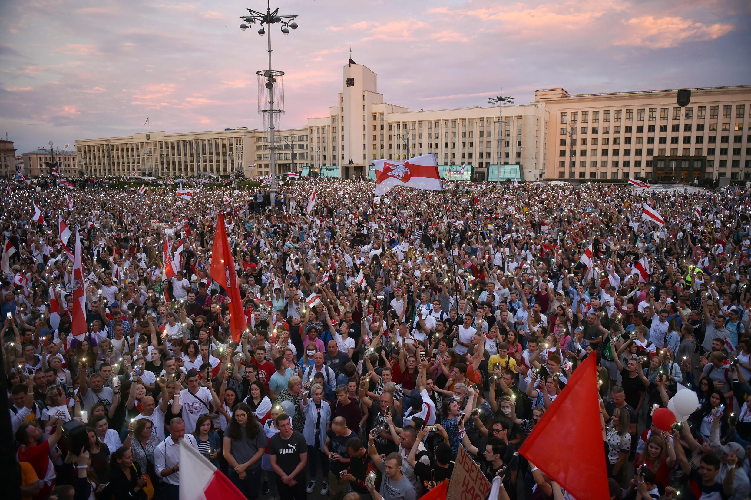 Belarus opposition supporters have staged a wave of protests against the election results
