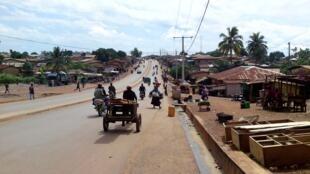 N'zérékoré, ville principale de la Guinée forestière.
