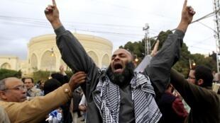 Manifestantes partidarios del presidente Morsi.