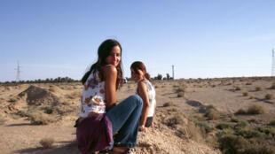 Film directors Oraine Brun-Mosketti and Leila Morouche in 2004