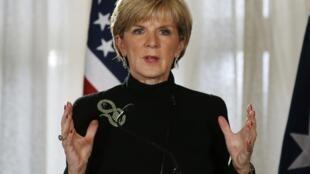 Julie Bishop, ministre australienne des Affaires étrangères, a annoncé avoir coupé les fonds versés à l'Autorité palestinienne (photo d'archives).