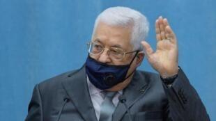 Le président de l'Autorité palestinienne Mahmoud Abbas, le 7 mai 2020 à Ramallah.