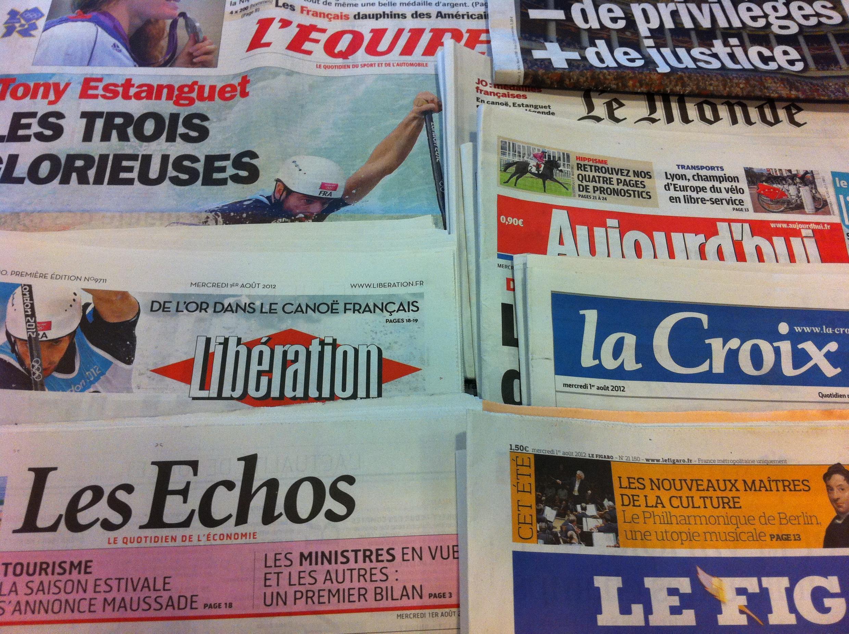 Capas dos jornais de 1/8/2012