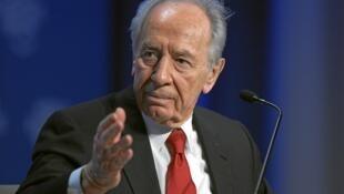 O presidente de Israel, Shimon Peres.