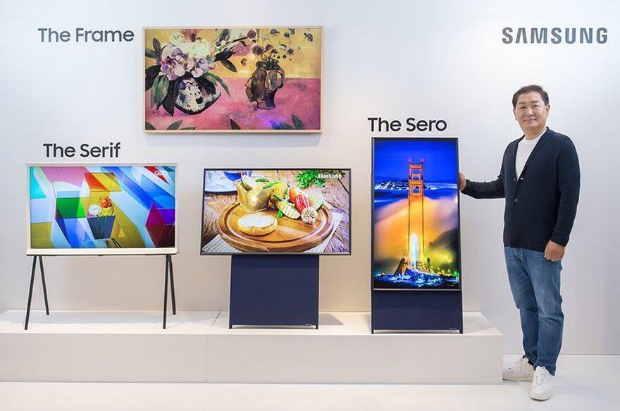 Samsung lança TV com tela vertical