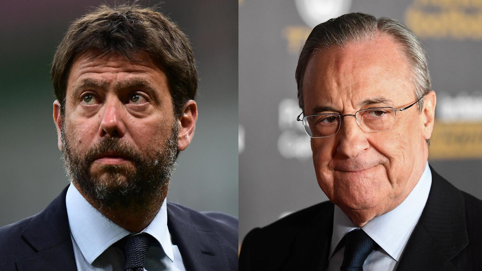 Football - Montage Andrea Agnelli_Florentino Perez - Super Ligue - Radio foot internationale