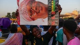Des partisans du candidat à l'élection présidentielle Umaro Sissoco Embalo à Bissau, le 22 novembre 2019.