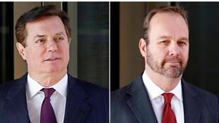 Hai nhân vật Paul Manafort (T) và Rick Gates từng là cộng sự thân cận của nhau.