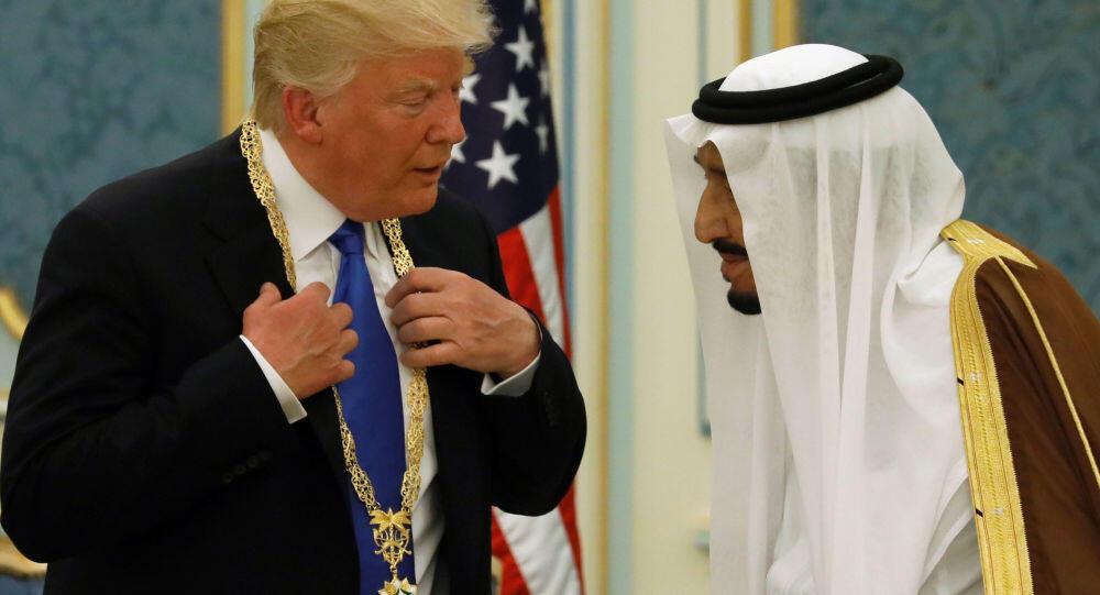 دونالد ترامپ و ملک سلمان