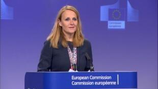 欧盟外交与安全事务高级代表的发言人柯契姜琪克资料图片