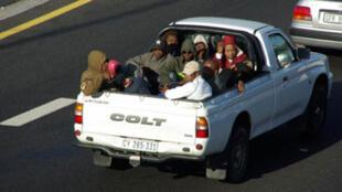 Un taxi collectif  sud-africain