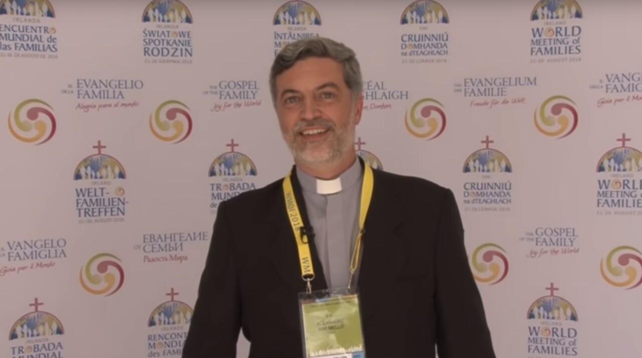 O padre Alexandre Awi Mello participou da organização do Encontro Mundial das Famílias em Dublin
