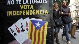 Dans une rue de Barcelone, le 16 novembre 2012.
