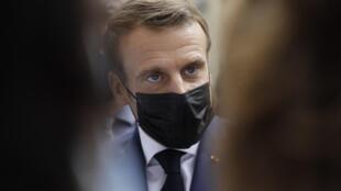Le président français Emmanuel Macron, ici à Paris le 6 octobre 2020.
