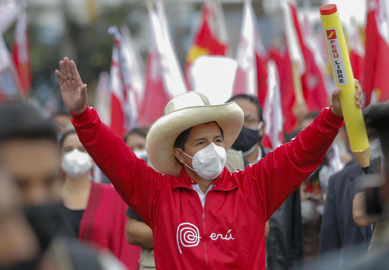 Pedro Castillo, à Lima le 3 juin 2021.
